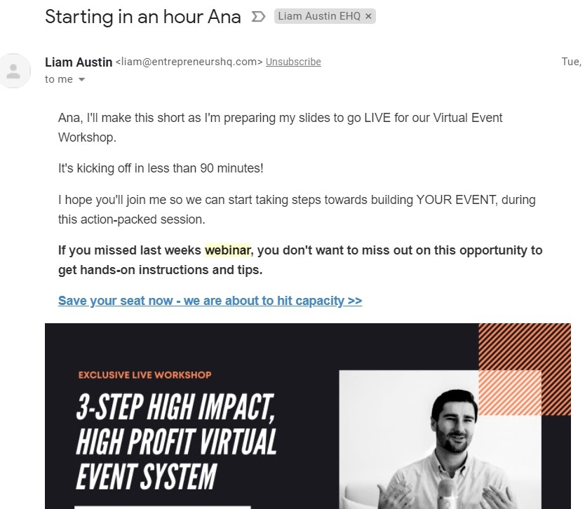 reminder email example